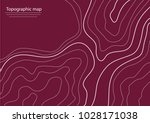topographic map  wine shade red ... | Shutterstock .eps vector #1028171038