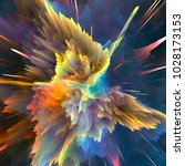 abstract colorful explosion... | Shutterstock . vector #1028173153