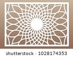 template for cutting. flower ... | Shutterstock .eps vector #1028174353