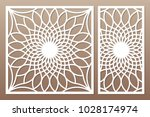 template for cutting. flower ... | Shutterstock .eps vector #1028174974
