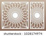 template for cutting. flower ... | Shutterstock .eps vector #1028174974