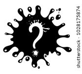 question mark poster.... | Shutterstock .eps vector #1028175874