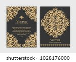 gold vintage greeting card on a ... | Shutterstock .eps vector #1028176000