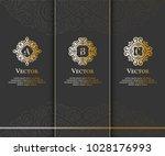vector emblem. elegant  classic ... | Shutterstock .eps vector #1028176993