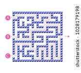 labyrinth shape design element. ... | Shutterstock .eps vector #1028179198