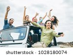 Group Of Happy Friends Taking...