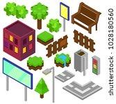 cube isometric city  street... | Shutterstock .eps vector #1028180560
