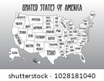 poster map of united states of... | Shutterstock .eps vector #1028181040