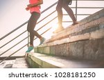 view of runners legs having a...   Shutterstock . vector #1028181250