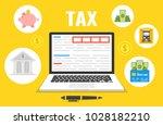 tax payment. data analysis ... | Shutterstock .eps vector #1028182210
