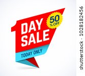 one day sale paper style banner ... | Shutterstock .eps vector #1028182456