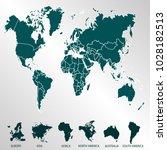world map. europe asia america... | Shutterstock .eps vector #1028182513