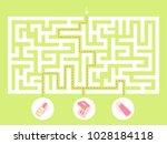 labyrinth shape design element. ... | Shutterstock .eps vector #1028184118