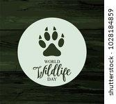 world wildlife day card or... | Shutterstock .eps vector #1028184859