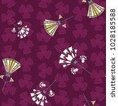 seamless pattern of art deco... | Shutterstock .eps vector #1028185588