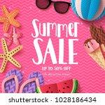 summer sale vector background... | Shutterstock .eps vector #1028186434