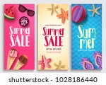 summer sale vector poster... | Shutterstock .eps vector #1028186440