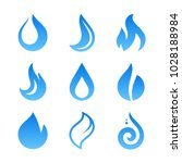 blue fire flame icons and logo... | Shutterstock . vector #1028188984
