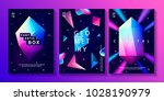 set of abstract trendy cosmic... | Shutterstock .eps vector #1028190979