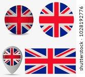 uk of great britain flag ... | Shutterstock .eps vector #1028192776