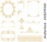 vector set of vintage elements... | Shutterstock .eps vector #1028195260