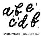 black letters a  b  c  d  e  f. ... | Shutterstock .eps vector #1028196460