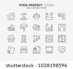 thin line icons set of... | Shutterstock .eps vector #1028198596