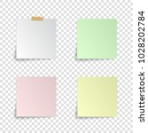 set of paper stickers with... | Shutterstock .eps vector #1028202784