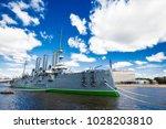 cruiser aurora on the neva...   Shutterstock . vector #1028203810