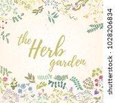 fresh modern design card of... | Shutterstock .eps vector #1028206834