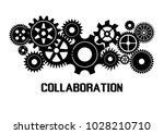 collaboration concept.... | Shutterstock .eps vector #1028210710