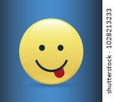 set of smile icons. emoji.... | Shutterstock .eps vector #1028213233