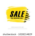 sale banner layout design | Shutterstock .eps vector #1028214829