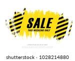 sale banner layout design | Shutterstock .eps vector #1028214880