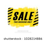 sale banner layout design | Shutterstock .eps vector #1028214886