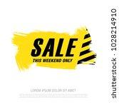 sale banner layout design | Shutterstock .eps vector #1028214910