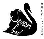 swan silhouette  illustration   Shutterstock .eps vector #1028215033
