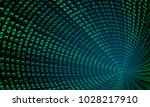 binary code tunnel  vector... | Shutterstock .eps vector #1028217910