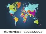 color world map vector | Shutterstock .eps vector #1028222023
