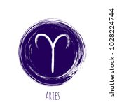 Circle Aries Zodiac Symbol...