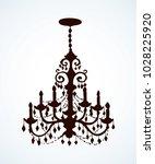 golden rich lampshade hang on...   Shutterstock .eps vector #1028225920