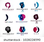 psychology  brain and mental... | Shutterstock .eps vector #1028228590