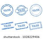 task stamps on white | Shutterstock .eps vector #1028229406
