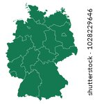 map of germany | Shutterstock .eps vector #1028229646