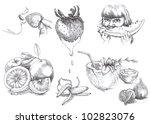 """sweet life"". hand drawn... | Shutterstock . vector #102823076"