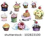 """muffins"". positive sweet image ... | Shutterstock . vector #102823100"