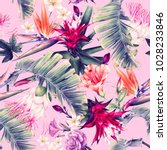 seamless floral pattern with... | Shutterstock . vector #1028233846