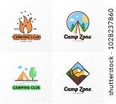 camping logo design   Shutterstock .eps vector #1028237860
