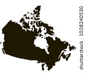 map of canada gray on a white... | Shutterstock .eps vector #1028240530