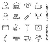 flat vector icon set   support... | Shutterstock .eps vector #1028242054